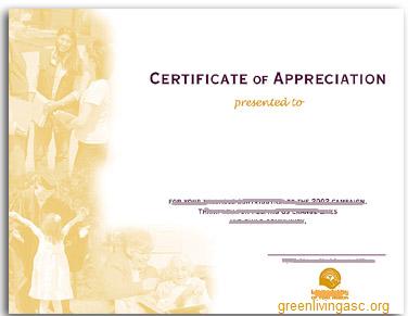 Certificate GLA
