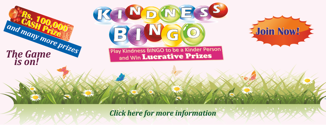 Kindness Bingo 2018 is on!
